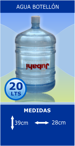 Agua Botellón 20ltrs