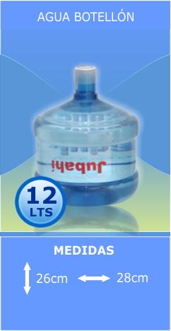 Agua Botellón 12lts